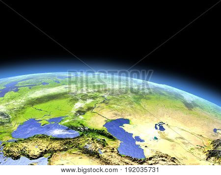 Western Asia From Space