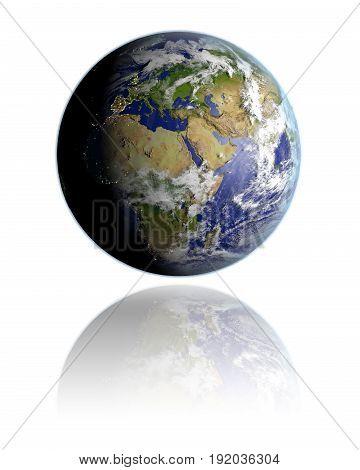 Emea Region On Globe