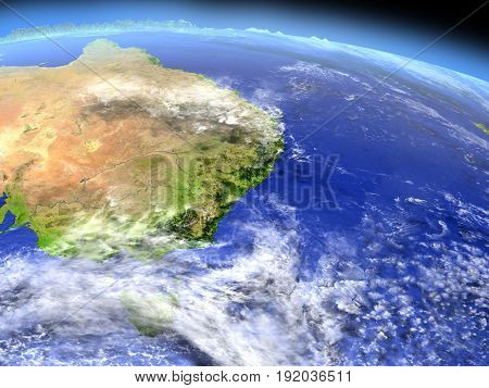 East Coast Of Australia From Space