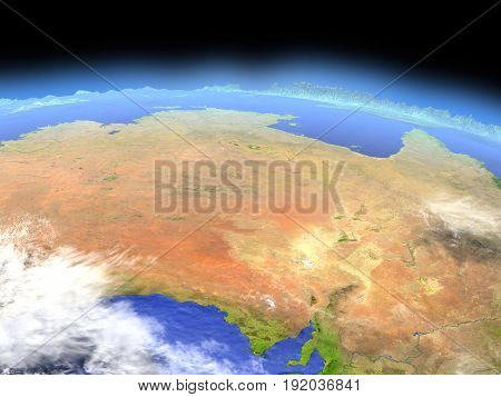 Central Australia From Space