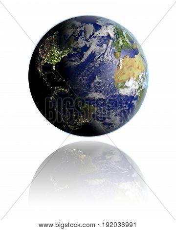 Northern Hemisphere On Globe