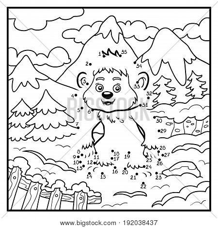 Numbers Game, Dot To Dot Game For Children, Yeti