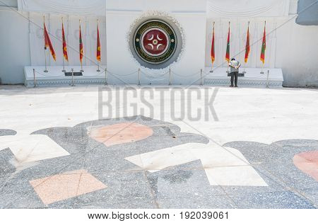 Male, Maldives - June 8, 2017: Area Of Victory Monument Of Male On June 8, 2017 In Male, Maldives