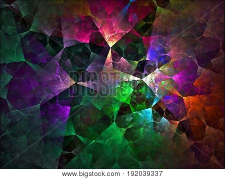 A colorful and beautiful design of interlocking square shapes.