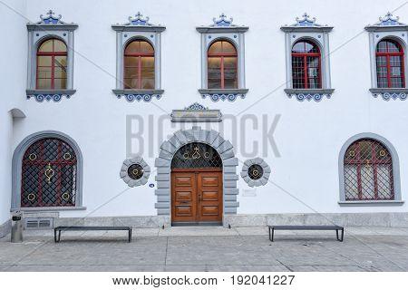 The Town-hall Of St. Gallen On Switzerland