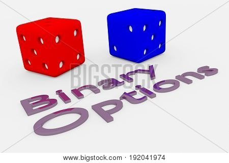 Binary Options Concept