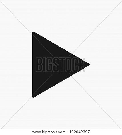 Media player play button flat vector icon.