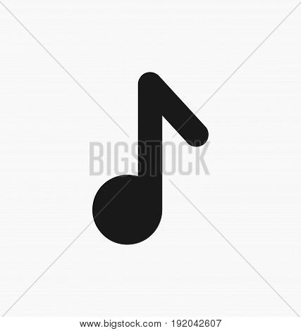 Media player music button flat vector icon.