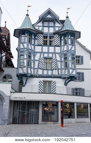 House At The Old Town Of St. Gallen On Switzerland