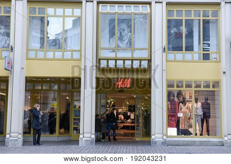 H&m Fashion Clothes Store On The Mall Of St. Gallen