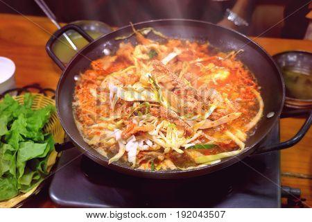 Korean hot pot to try when you go to South Korea.