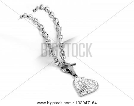 Necklace Heart - Stainless Steel