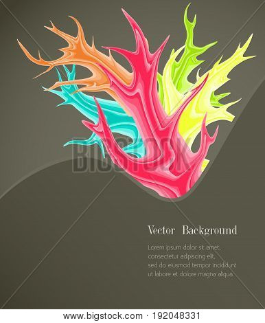 Abstract background with colored spots. Vector illustration.