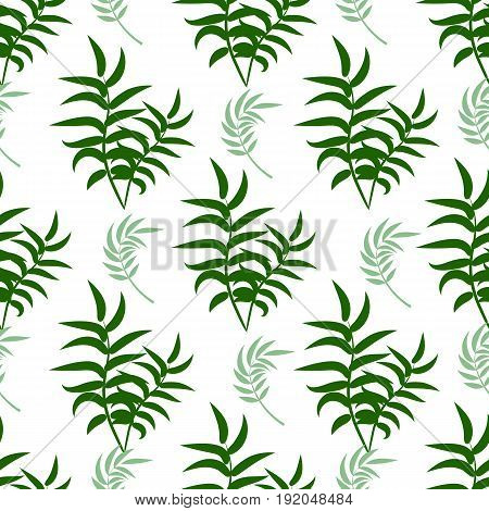 Beautiful seamless vector floral summer pattern background with tropical palm leaves. Perfect for wallpapers web page backgrounds surface textures tropical leaves pattern textile.