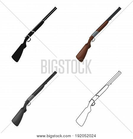Hunting rifle.African safari single icon in cartoon style vector symbol stock illustration .