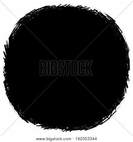 Geometric Circular Element. Grungy, Sketchy Splatter-like Circle Shape(s)