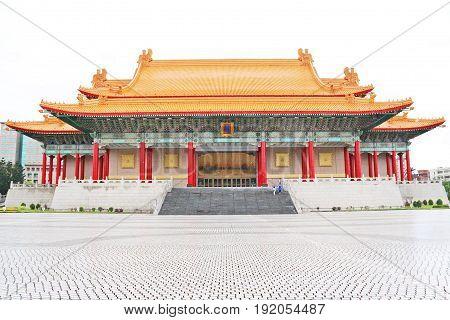 Taipei Thaiwan - April 2017: National Concert Hall at Chiang Kai-shek Memorial Hall