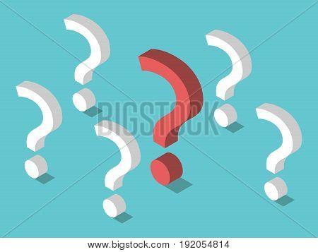 Isometric Unique Question Mark