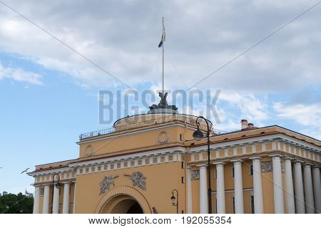The Admiralty Building In St. Petersburg, Russia.