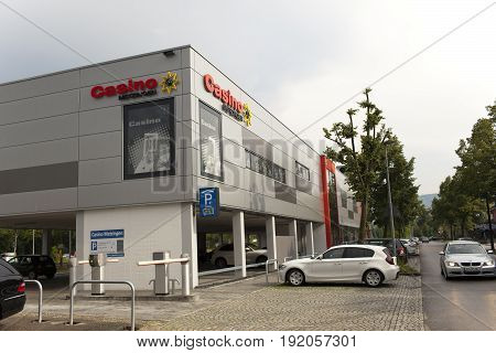 GERMANY - May 30 2012: Casino in Ingolstadt Village- the center of sales near Munich