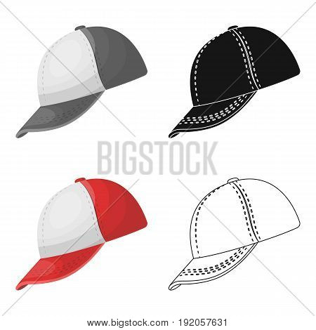 Baseball cap. Baseball single icon in cartoon style vector symbol stock illustration .