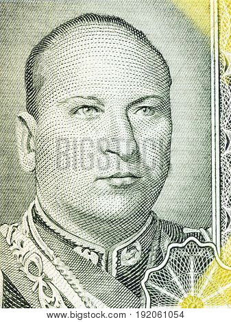 Gualberto Villarroel portrait from Bolivian money - Peso