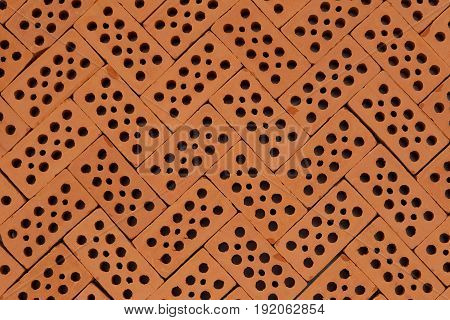 pattern with red bricks on a basement