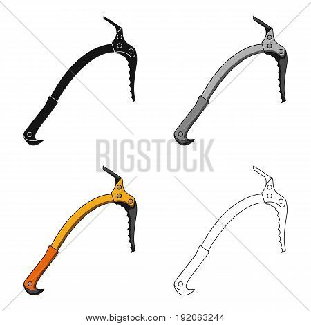 Ice ax.Mountaineering single icon in cartoon style vector symbol stock illustration .