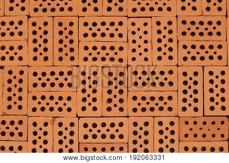 flat pattern with bricks squared on ground