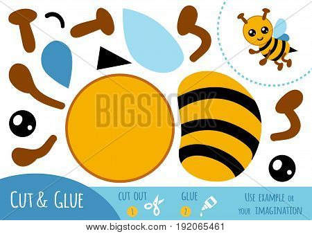 Education Paper Game For Children, Bee
