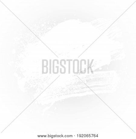 smudge and smear a white brush on a white background illustration clip-art