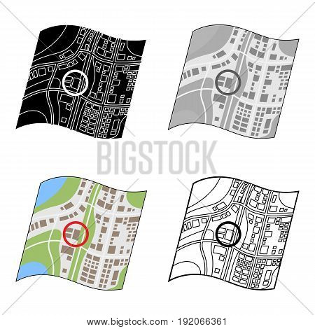 Location on the map.Realtor single icon in cartoon style vector symbol stock illustration .