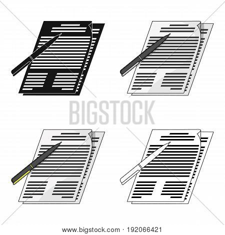 Signature of documents.Realtor single icon in cartoon style vector symbol stock illustration .