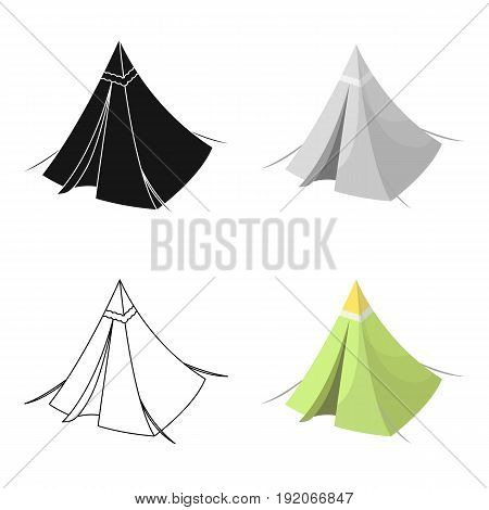 Tent cone.Tent single icon in cartoon style vector symbol stock illustration .