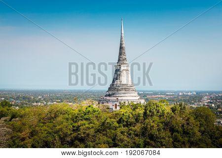 Temple On Topof Mountain,architectural Details Of Phra Nakhon Khiri Historical Park (khao Wang), Phe