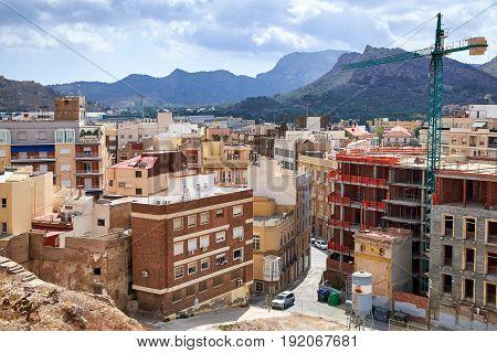 Cartagena, Spain - July 13, 2016: Beautiful views of the city of Cartagena city, region of Murcia, Spain