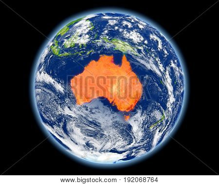 Australia In Red From Space