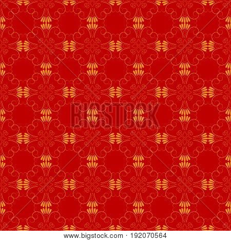 Abstract red seamless pattern. Fashion graphic background design. Modern stylish abstract texture. Colorful template for prints textiles wrapping wallpaper website etc. Vector illustration
