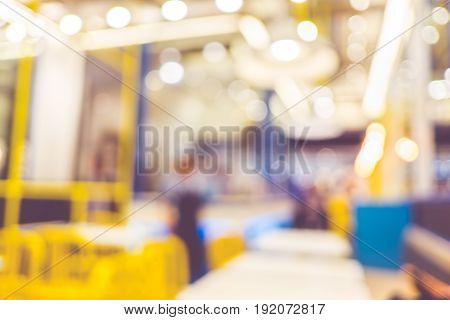 Blurred Background,customer Dinner At Restaurant With Bokeh Light