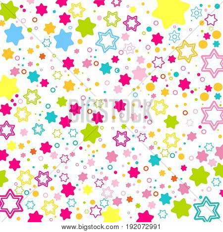 Colored Stars s David background for Your design. Flat style for decorating your design