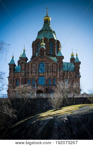 Uspenski Cathedral in the Finnish capital Helsinki