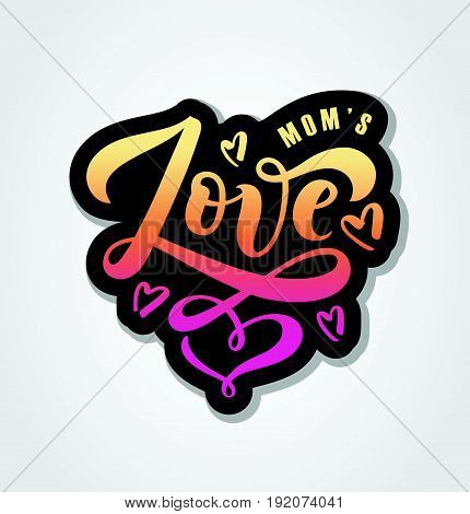 Vector Illustration Of Love Text For Boys/girls Clothes. Love Badge/tag/icon.