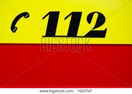 European Emergency Number On Fire Engine