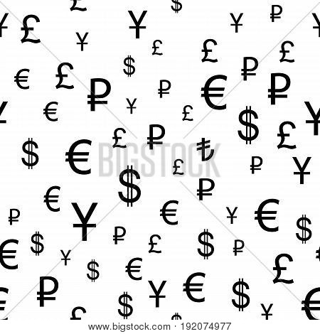 Business and finance seamless pattern. Background with icons for business theme. Background for textile printing and wrapping paper. Vector illustration.