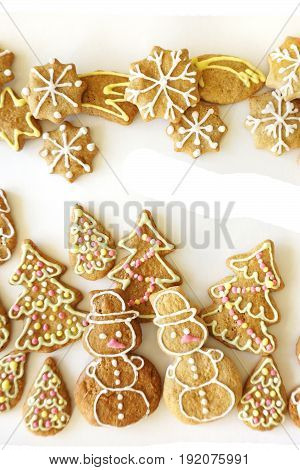 Christmas Tradition Gingerbread Background
