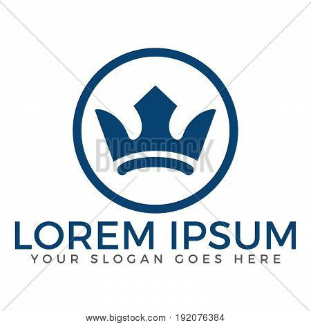 Crown abstract logo vector template. Hotel logo. Kings symbol. Power shape icon. Business leaders, boss, premium quality. Queen crown. Crown logo.