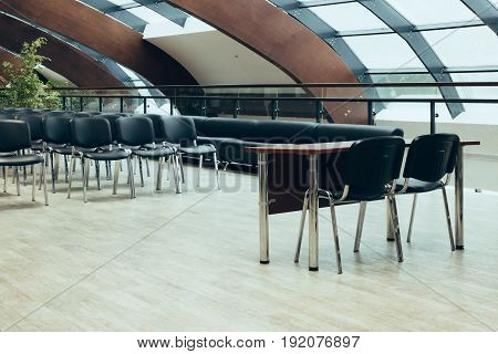 Conferences hall prepared for seminar or workshop