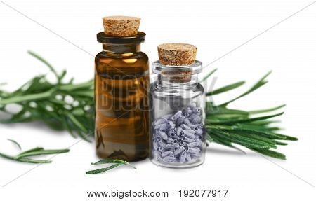 Oil rosemary essential color amber glass herbal