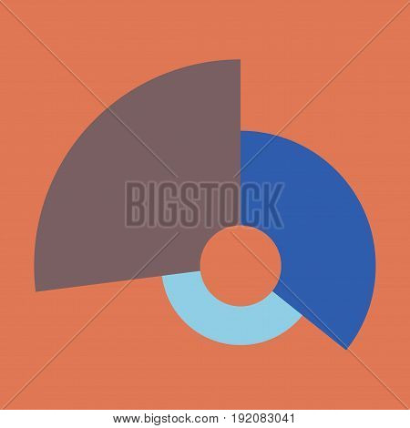 flat icon on stylish background Circular economic chart