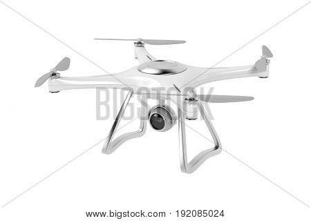 Drone isolated on white background, 3D illustration
